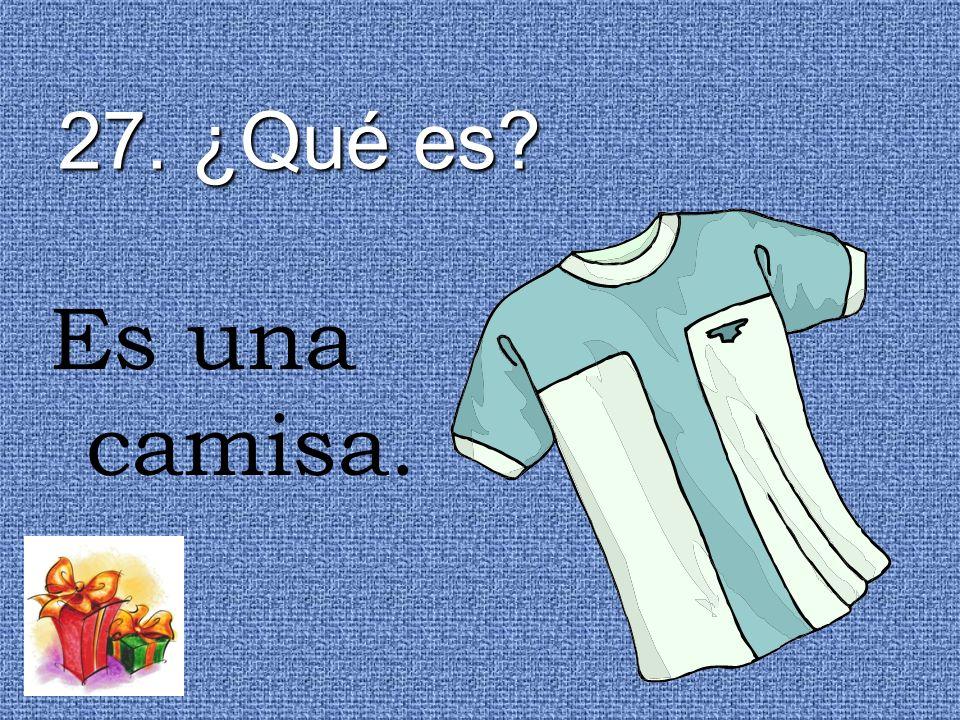 27. ¿Qué es? Es una camisa.
