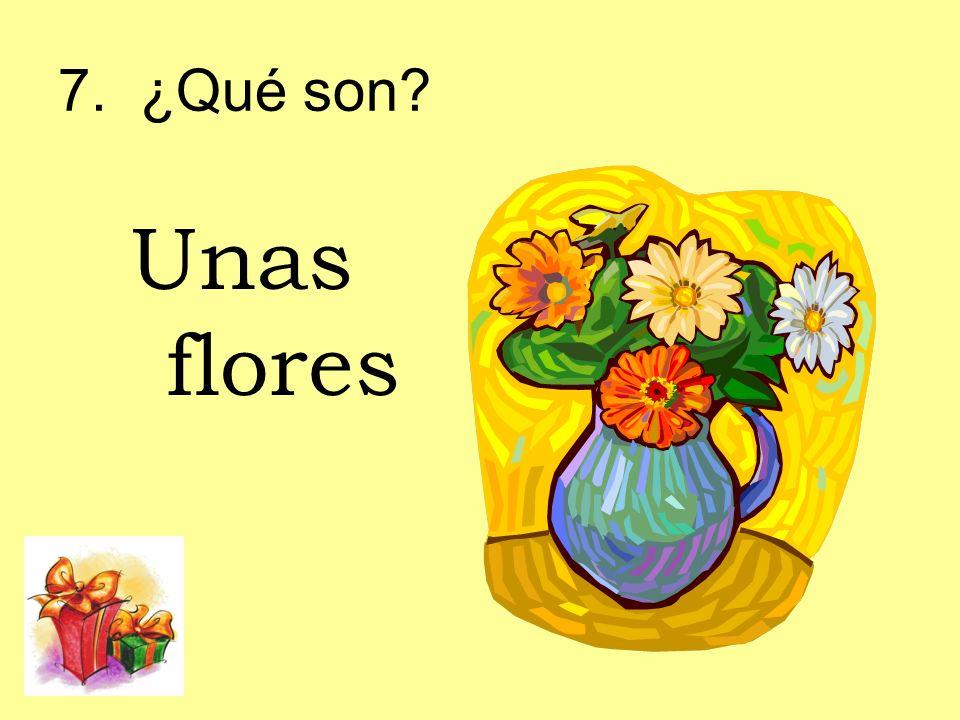 7. ¿Qué son? Unas flores