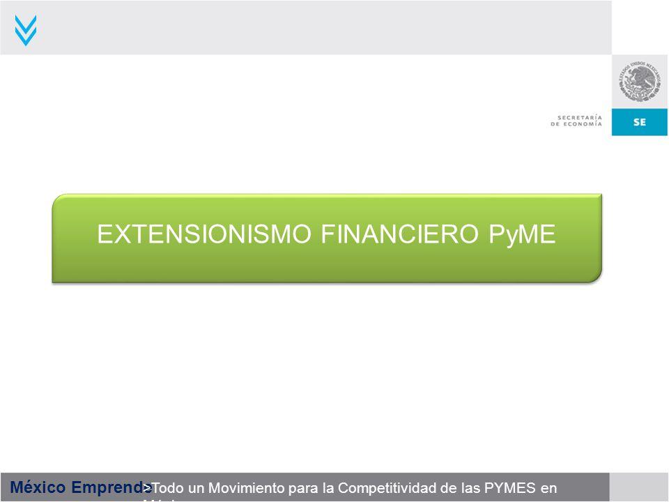 México Emprende >Todo un Movimiento para la Competitividad de las PYMES en México EXTENSIONISMO FINANCIERO PyME