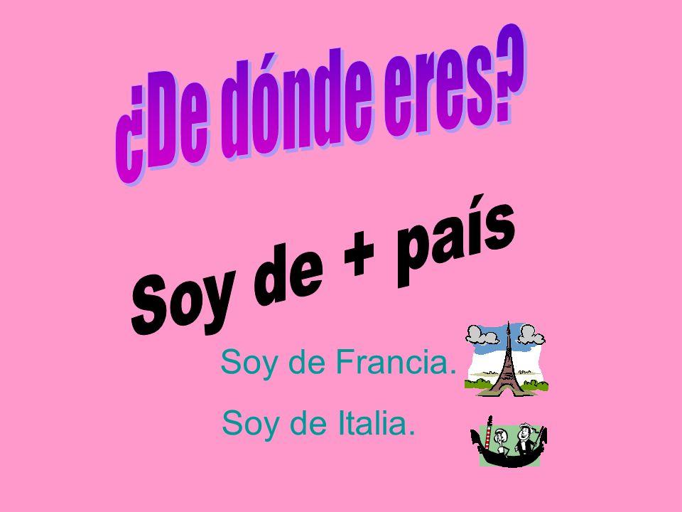 ¿Masculino o femenino? Italiano Inglesa Escocés Portugués Irlandés francesa Irlandesa Español Inglés Japonesa francés