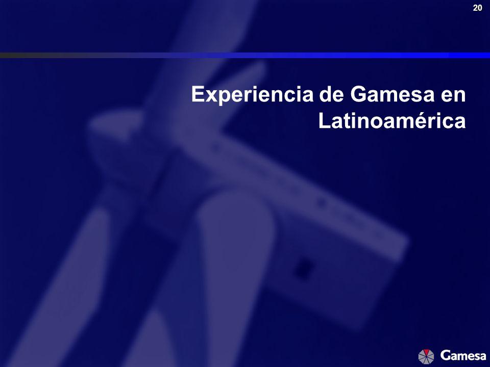 20 Experiencia de Gamesa en Latinoamérica