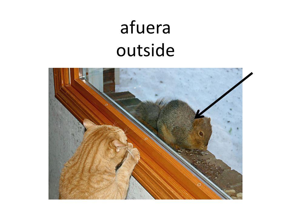afuera outside