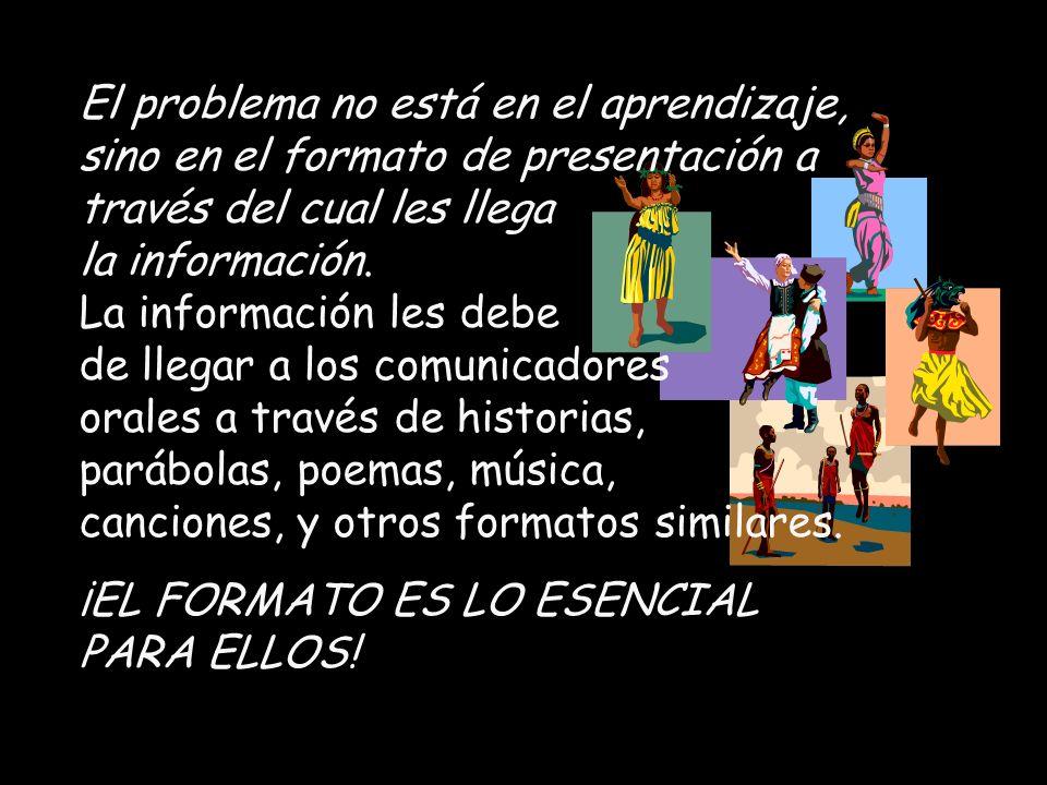 El problema no está en el aprendizaje, sino en el formato de presentación a través del cual les llega la información.