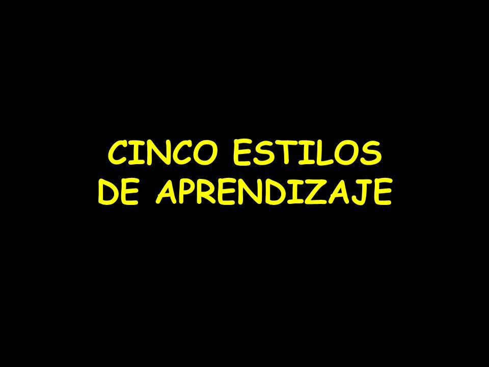 CINCO ESTILOS DE APRENDIZAJE