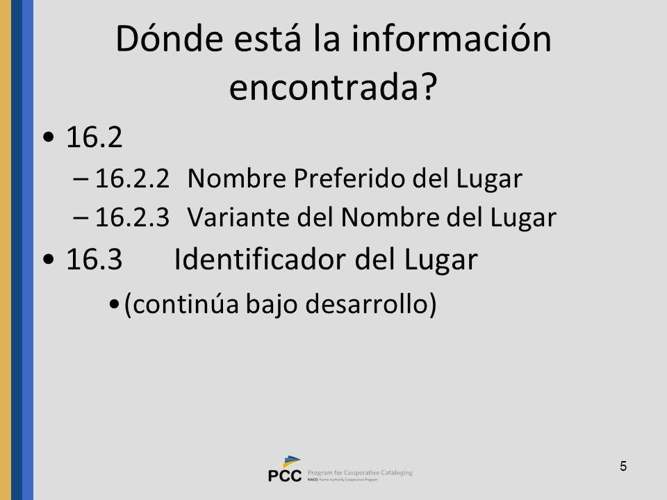 5 Dónde está la información encontrada.