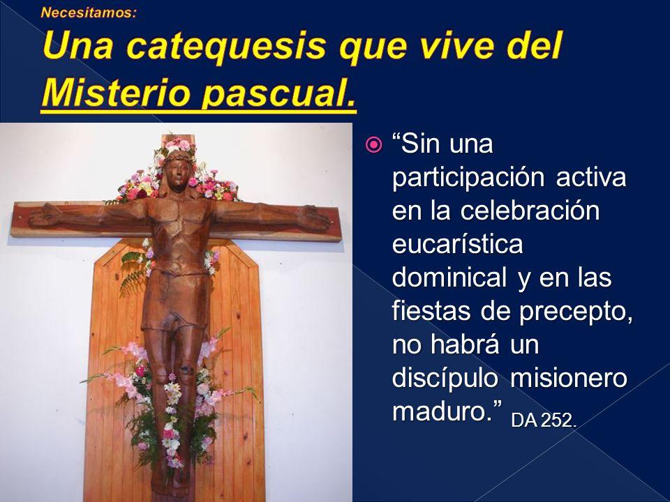 Sin una participación activa en la celebración eucarística dominical y en las fiestas de precepto, no habrá un discípulo misionero maduro.