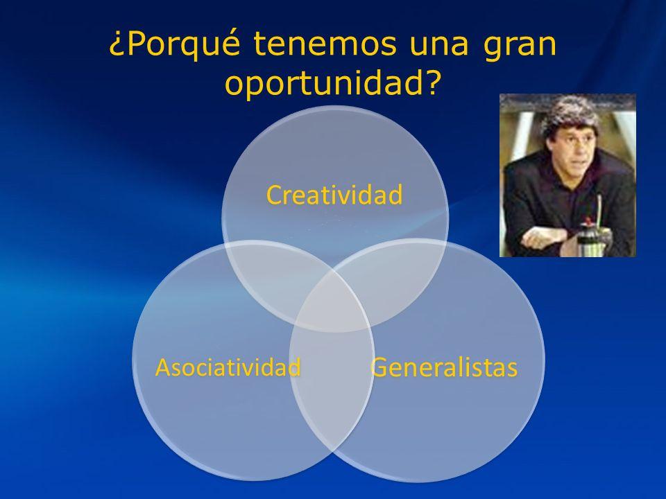 ¿Porqué tenemos una gran oportunidad Creatividad Generalistas Asociatividad
