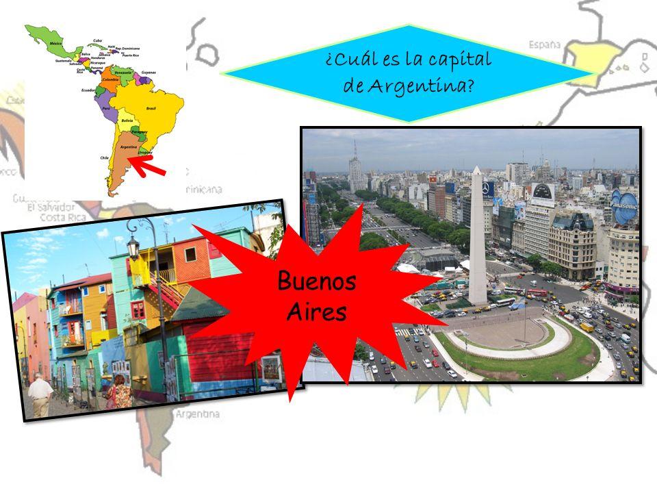 ¿Cuál es la capital de Argentina? Buenos Aires