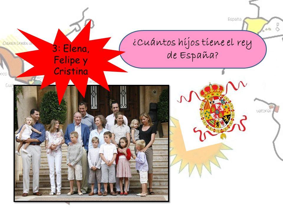 ¿Cuántos hijos tiene el rey de España? 3: Elena, Felipe y Cristina
