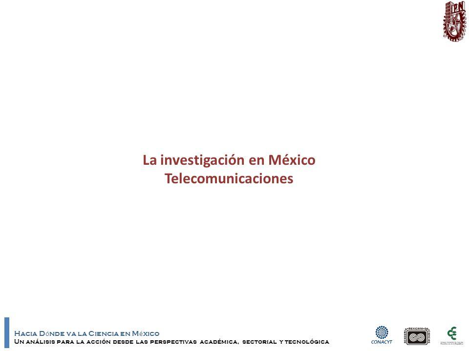 Hacia D ó nde va la Ciencia en M é xico Un análisis para la acción desde las perspectivas académica, sectorial y tecnológica La investigación en México Telecomunicaciones