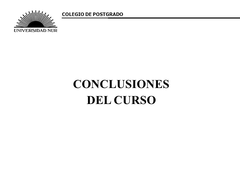 CONCLUSIONES DEL CURSO COLEGIO DE POSTGRADO