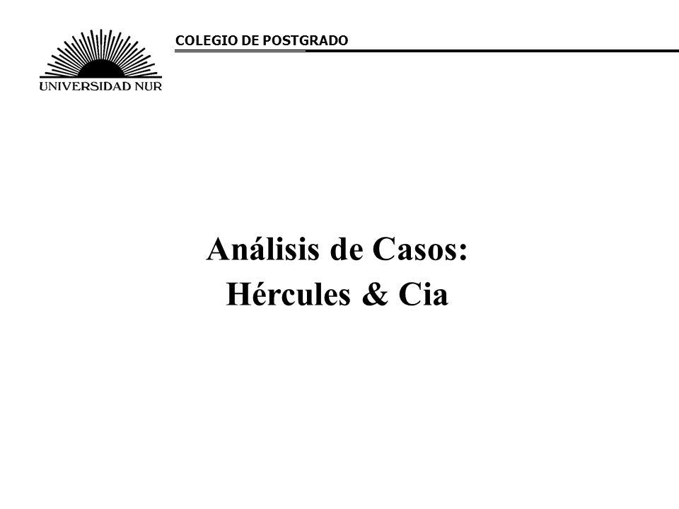 Análisis de Casos: Hércules & Cia COLEGIO DE POSTGRADO