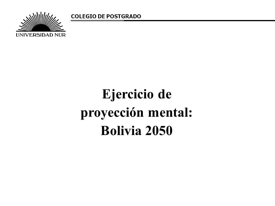 Ejercicio de proyección mental: Bolivia 2050 COLEGIO DE POSTGRADO