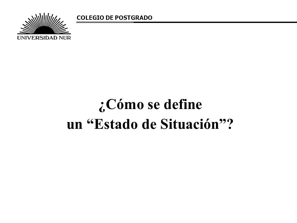 ¿Cómo se define un Estado de Situación? COLEGIO DE POSTGRADO