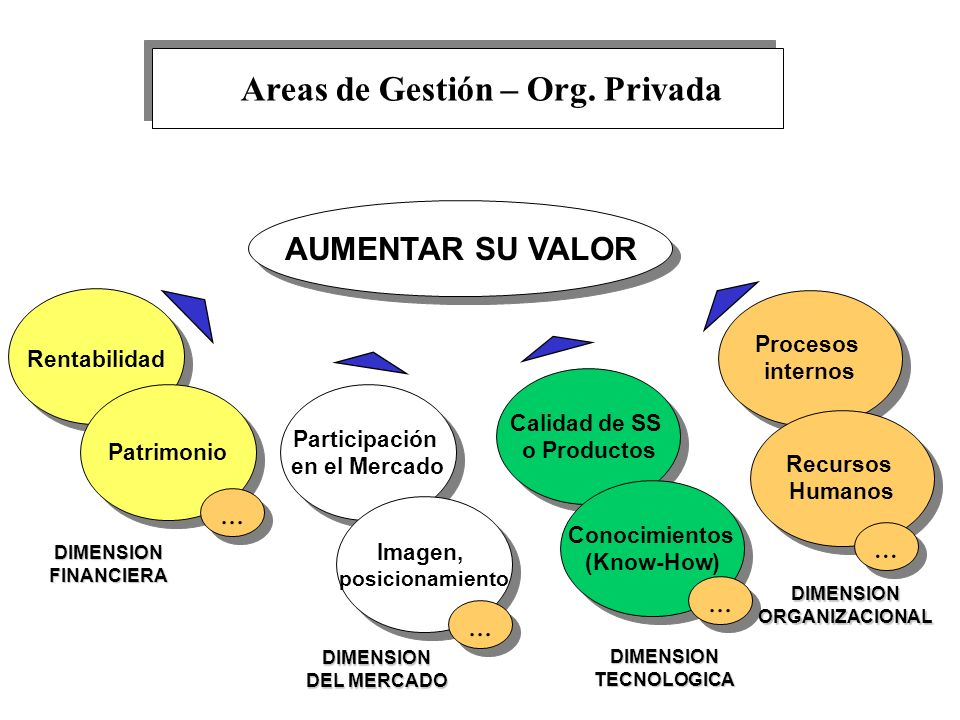 AUMENTAR SU VALOR Rentabilidad Patrimonio DIMENSION FINANCIERA... Participación en el Mercado Participación en el Mercado Imagen, posicionamiento Imag