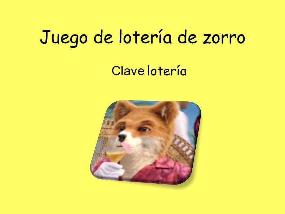 Juego de lotería de zorro Clave lotería