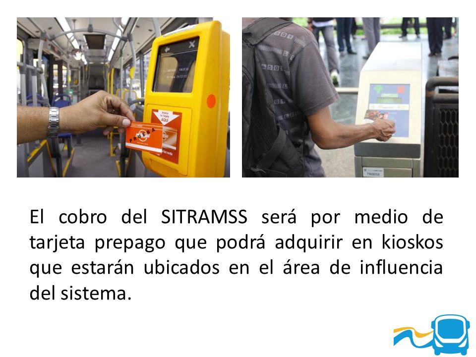 El cobro del SITRAMSS será por medio de tarjeta prepago que podrá adquirir en kioskos que estarán ubicados en el área de influencia del sistema.