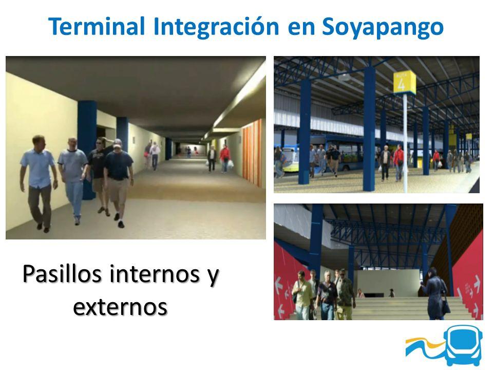 Terminal Integración en Soyapango Pasillos internos y externos