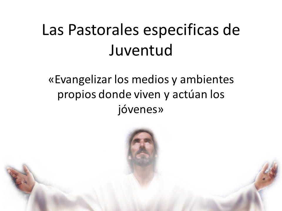 Las Pastorales especificas de Juventud «Evangelizar los medios y ambientes propios donde viven y actúan los jóvenes»