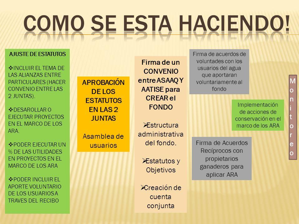 AJUSTE DE ESTATUTOS INCLUIR EL TEMA DE LAS ALIANZAS ENTRE PARTICULARES (HACER CONVENIO ENTRE LAS 2 JUNTAS). DESAROLLAR O EJECUTAR PROYECTOS EN EL MARC