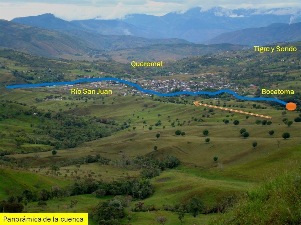 Río San Juan Bocatoma Queremal Tigre y Sendo Panorámica de la cuenca