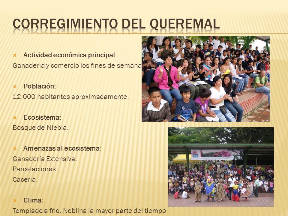 Actividad económica principal: Ganadería y comercio los fines de semana Población: 12.000 habitantes aproximadamente.