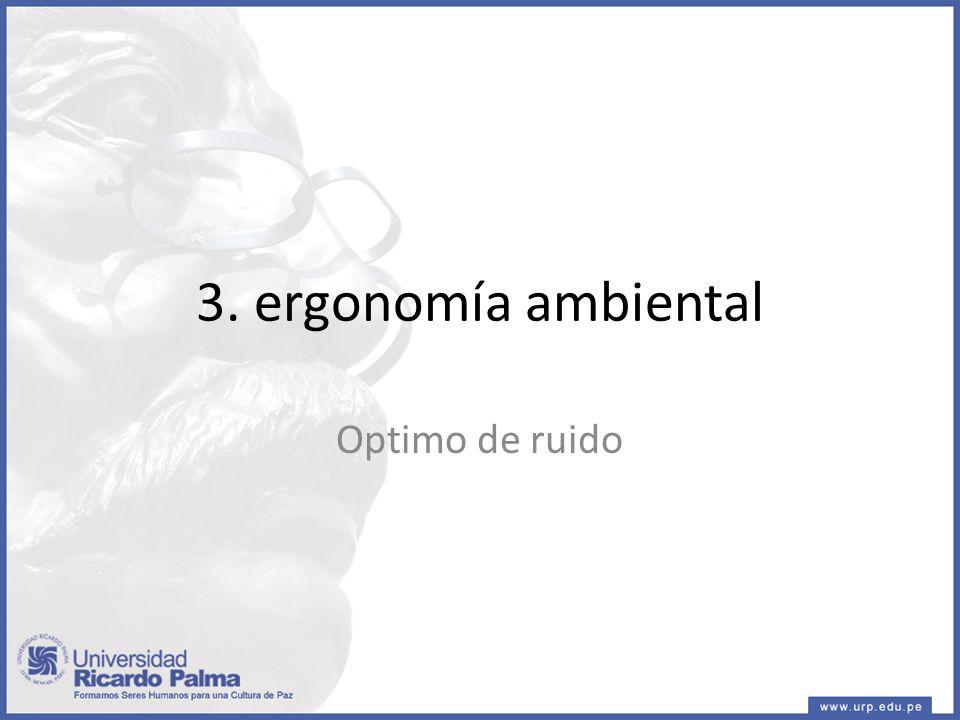 3. ergonomía ambiental Optimo de ruido