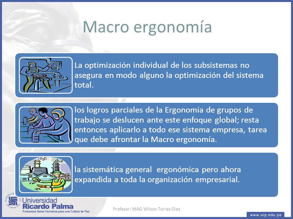 La optimización individual de los subsistemas no asegura en modo alguno la optimización del sistema total.
