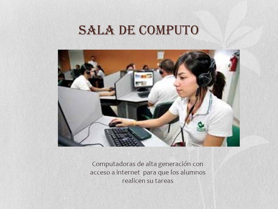 SALA AUDIOVISUAL La sala audiovisual proporciona a los estudiantes un proyector para exposiciones de todo tipo