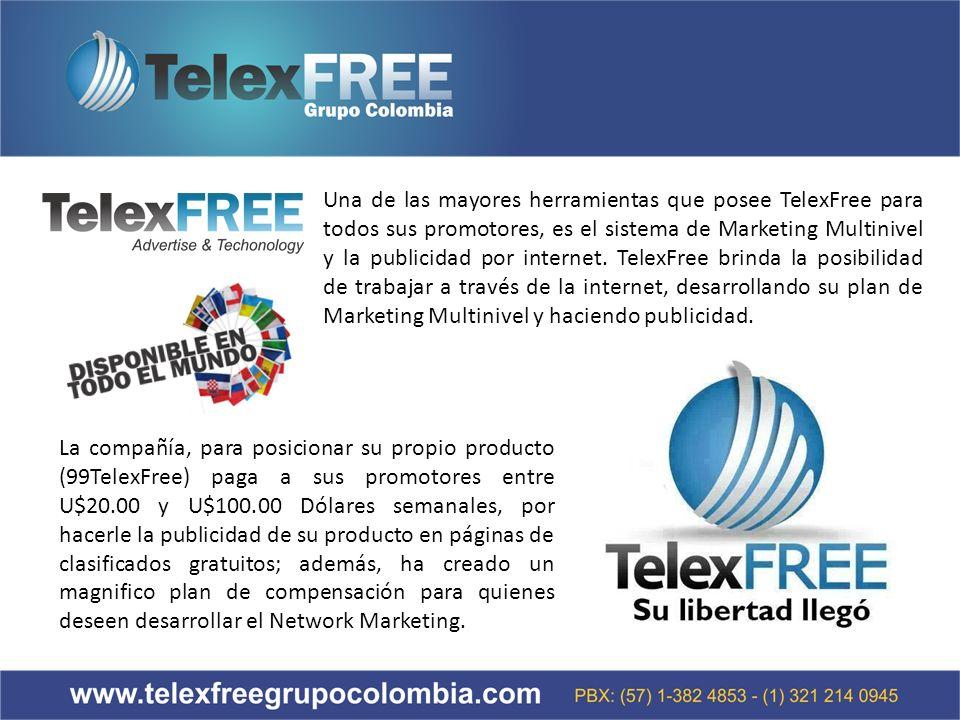 Una de las mayores herramientas que posee TelexFree para todos sus promotores, es el sistema de Marketing Multinivel y la publicidad por internet.