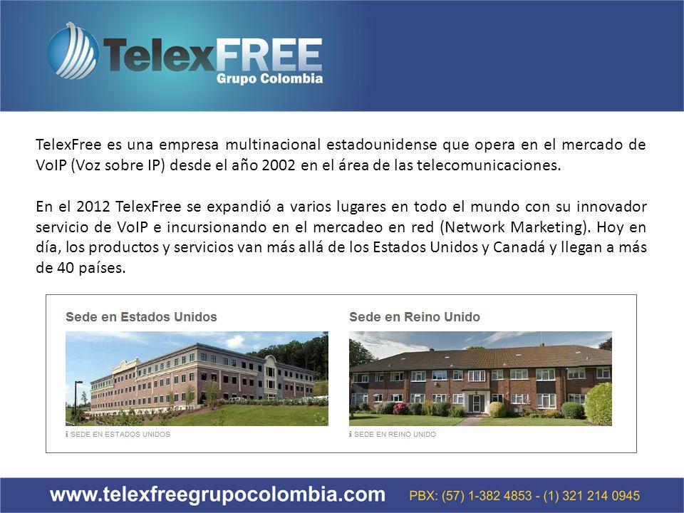 TelexFree es una empresa multinacional estadounidense que opera en el mercado de VoIP (Voz sobre IP) desde el año 2002 en el área de las telecomunicaciones.