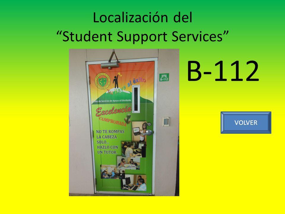 Localización del Student Support Services VOLVER B-112