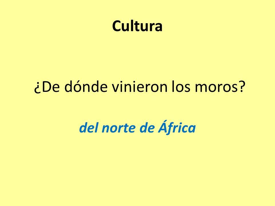 ¿De dónde vinieron los moros del norte de África Cultura