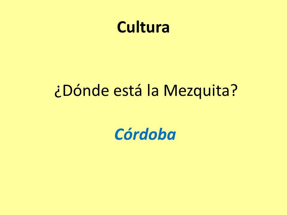 ¿Dónde está la Mezquita Córdoba Cultura