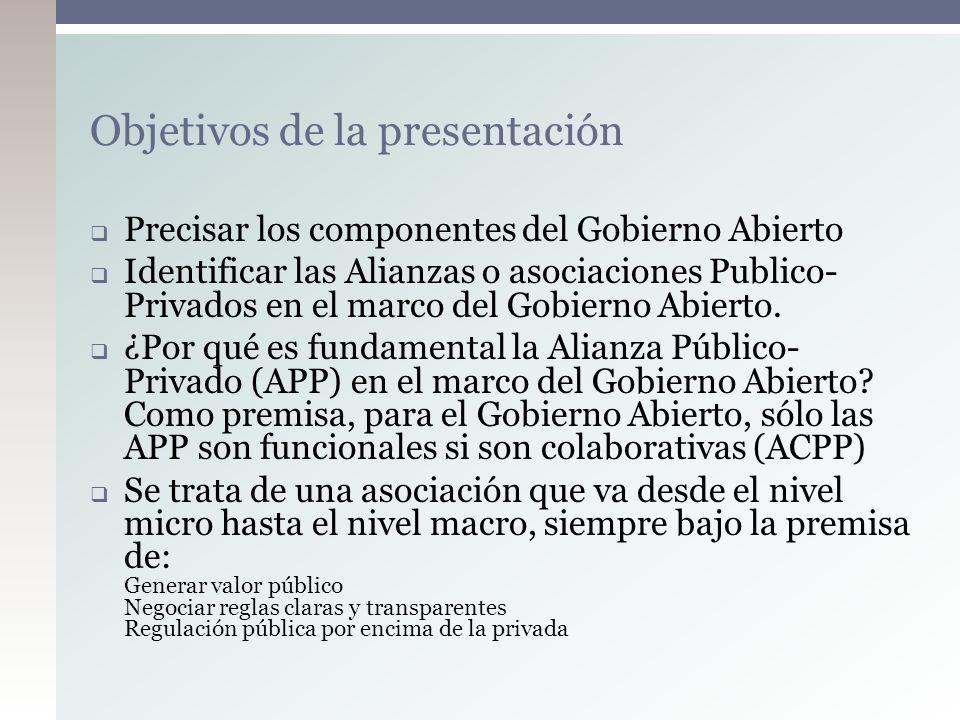 ¿Donde estamos.Definiendo el Gobierno Abierto Open Goverment Working Group, Albert J.