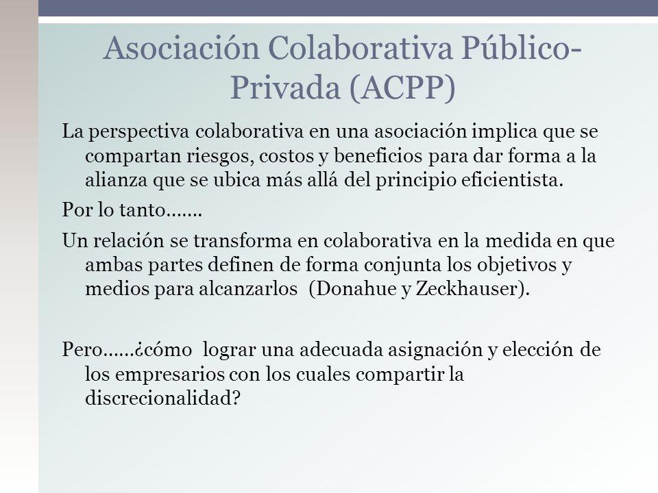 La perspectiva colaborativa en una asociación implica que se compartan riesgos, costos y beneficios para dar forma a la alianza que se ubica más allá