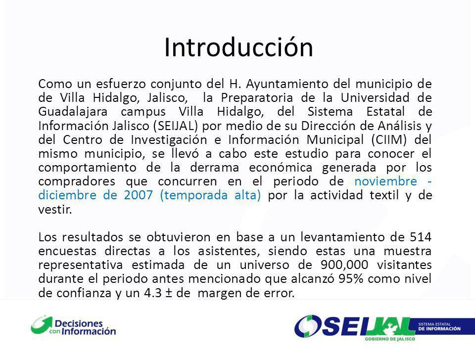 Introducción Como un esfuerzo conjunto del H. Ayuntamiento del municipio de de Villa Hidalgo, Jalisco, la Preparatoria de la Universidad de Guadalajar
