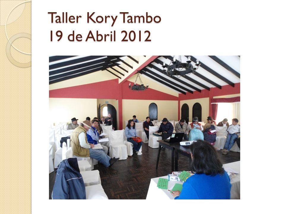 Taller Kory Tambo 19 de Abril 2012