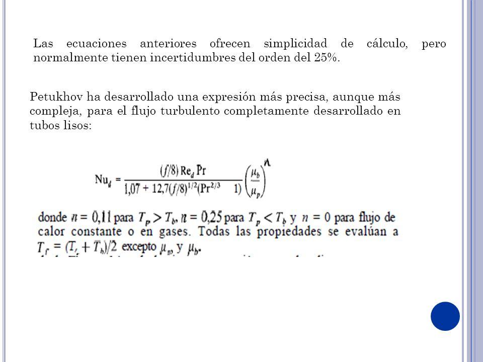 Las ecuaciones anteriores ofrecen simplicidad de cálculo, pero normalmente tienen incertidumbres del orden del 25%. Petukhov ha desarrollado una expre