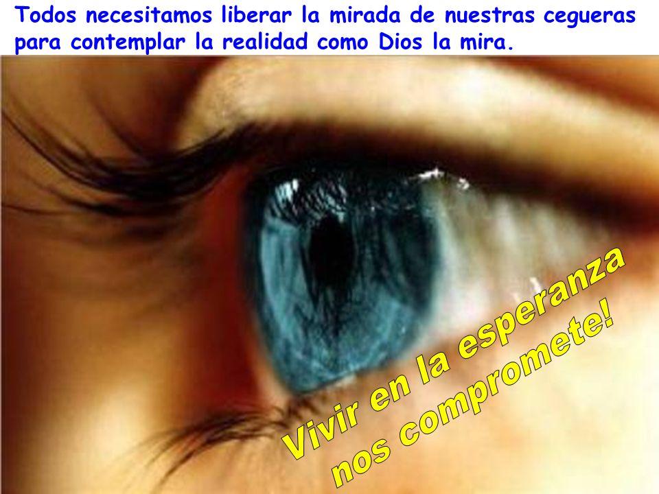 Todos necesitamos liberar la mirada de nuestras cegueras para contemplar la realidad como Dios la mira.