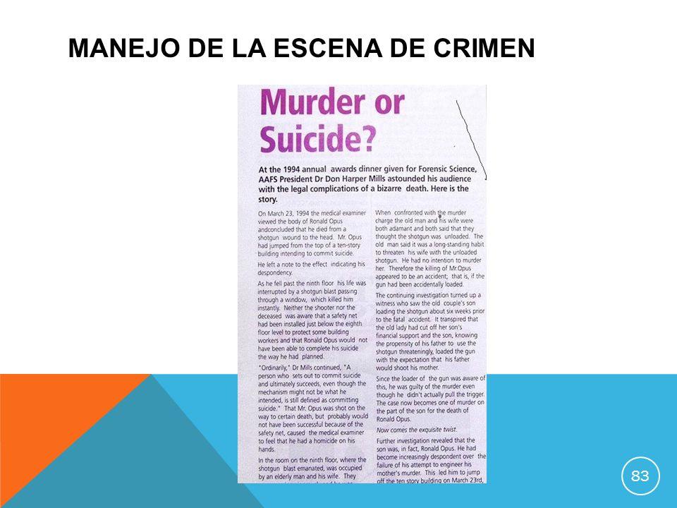 MANEJO DE LA ESCENA DE CRIMEN 83