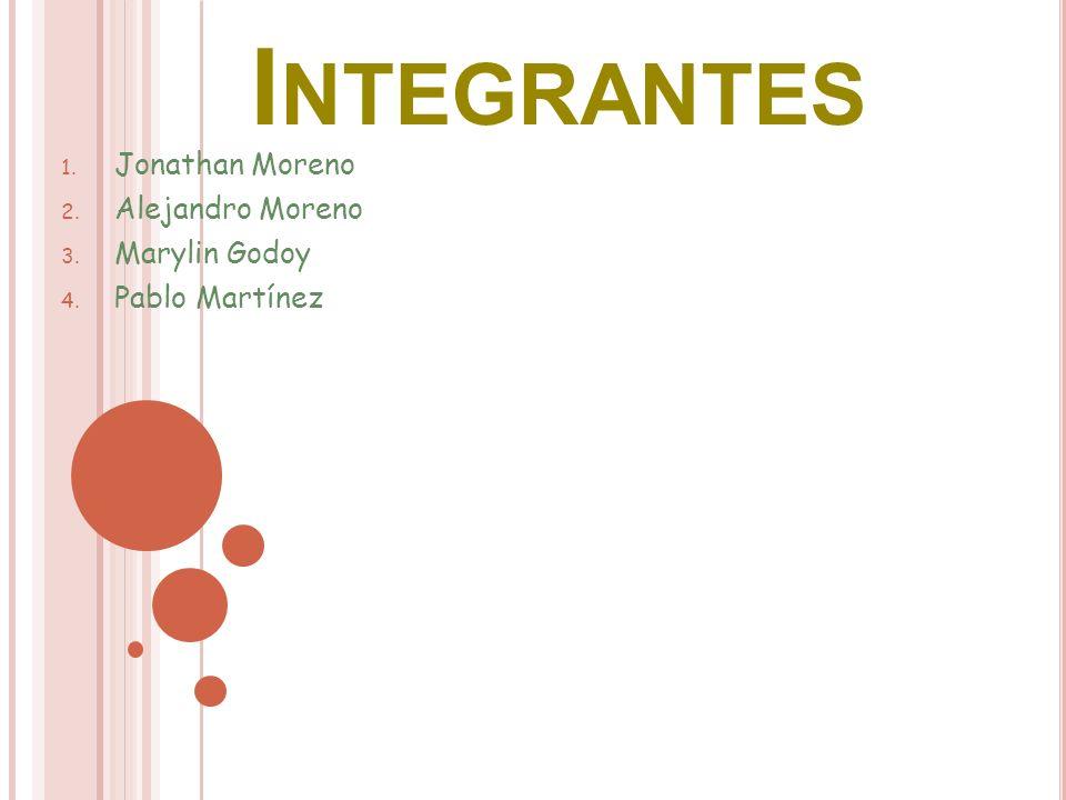 1. Jonathan Moreno 2. Alejandro Moreno 3. Marylin Godoy 4. Pablo Martínez I NTEGRANTES