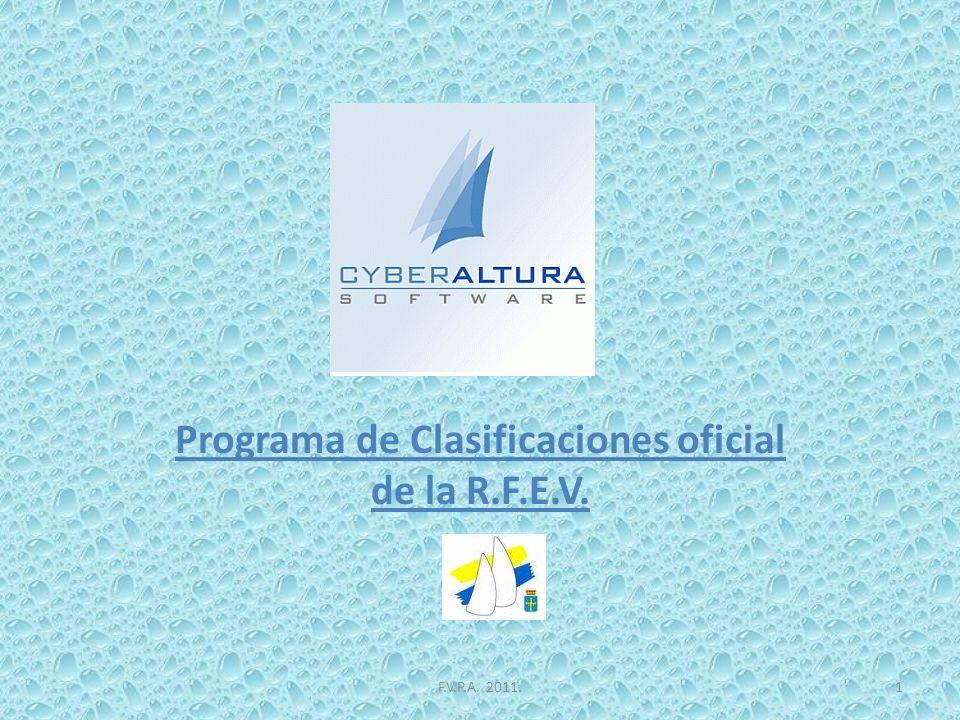 Programa de Clasificaciones oficial de la R.F.E.V. F.V.P.A. 2011.1