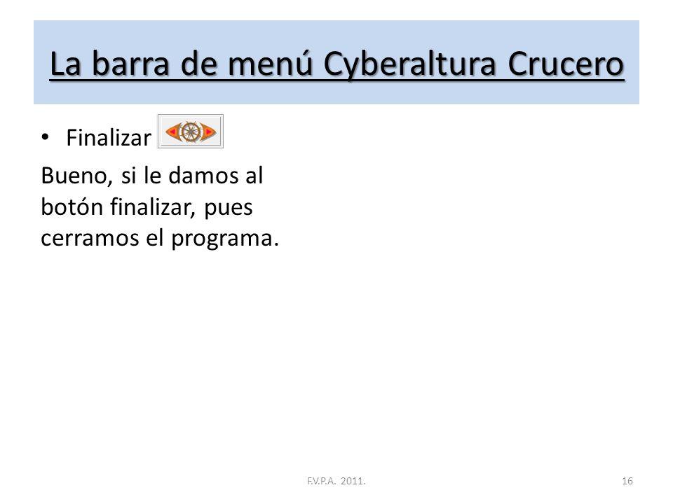 La barra de menú Cyberaltura Crucero Clasificación General Aquí encontramos la clasificación general, que no es más que la suma de todas las clasifica