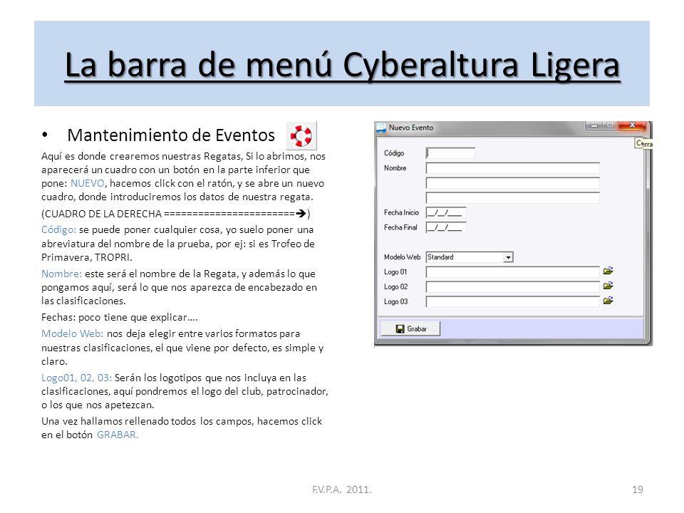 CyberAltura Ligera Descripción y uso del programa F.V.P.A. 2011.18
