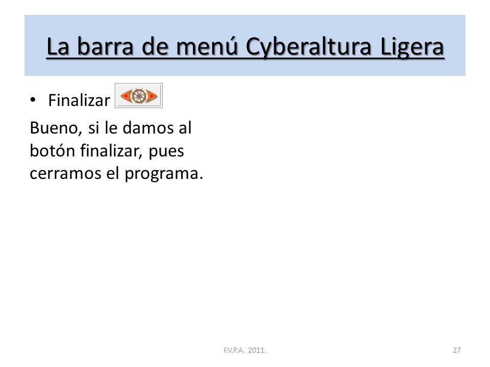 La barra de menú Cyberaltura Ligera Clasificación General Aquí encontramos la clasificación general, que no es más que la suma de todas las clasificac
