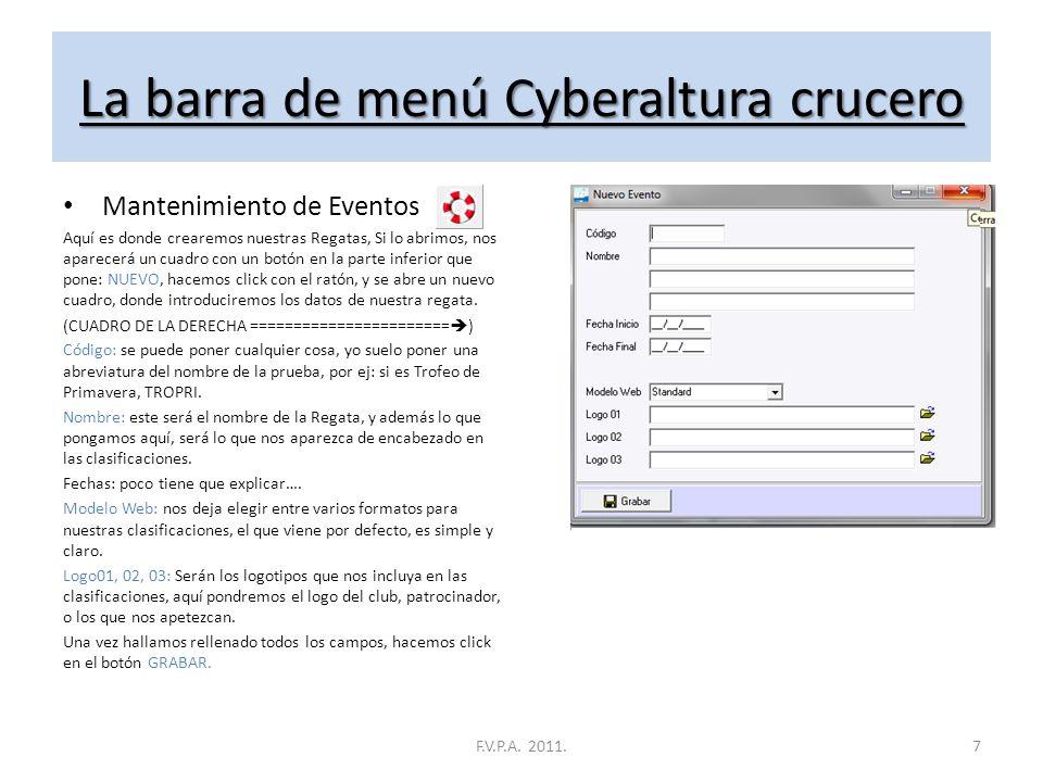La barra de menú Cyberaltura Ligera Finalizar Bueno, si le damos al botón finalizar, pues cerramos el programa.