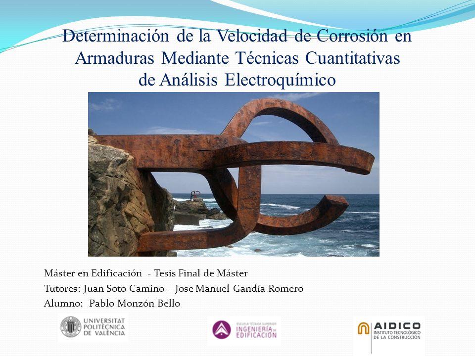 Determinación de la Velocidad de Corrosión en Armaduras Mediante Técnicas Cuantitativas de Análisis Electroquímico Máster en Edificación - Tesis Final