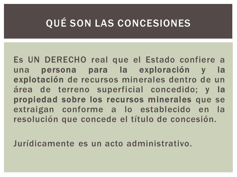 EFECTOS JURÍDICOS DE LAS CONCESIONES MINERAS
