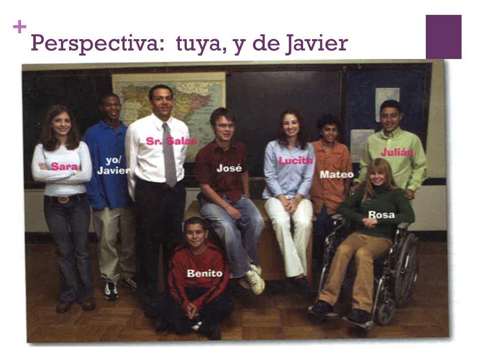 + Perspectiva: tuya, y de Javier